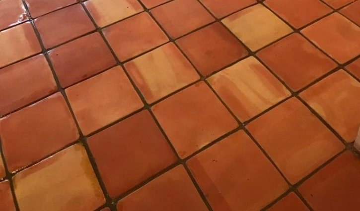 Terracotta floor restoration in Islington