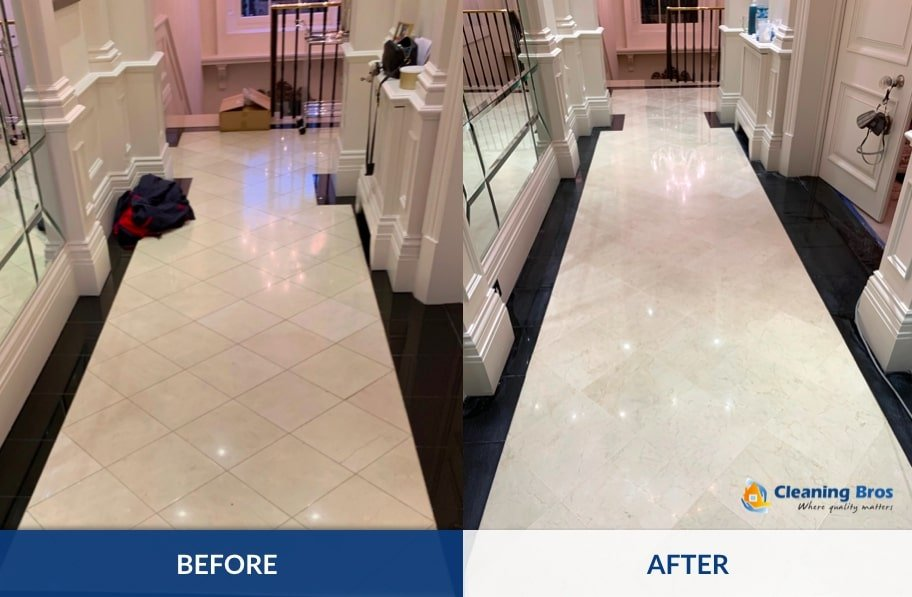 marble polishing in london by cleaning bros ltd
