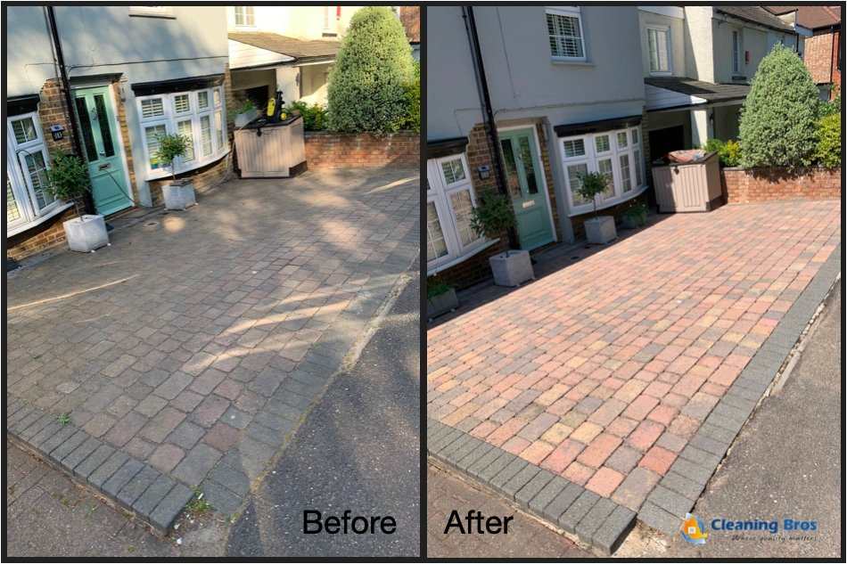 driveway cleaning london before and after
